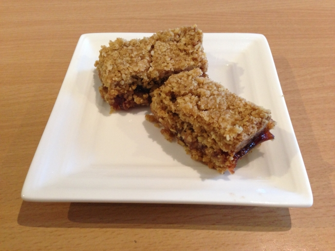 strawberry Oatmeal Bars Plated